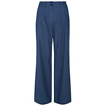 Buy Hobbs Rosalind Trousers, Indigo Blue Online at johnlewis.com
