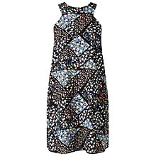 Buy Miss Selfridge Petites Patchwork Dress, Mid Blue Online at johnlewis.com