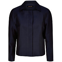 Buy Jaeger Cotton-Silk Jacket, Midnight Online at johnlewis.com