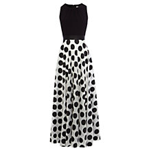 Buy Coast Dotty Maxi Dress, Mono Online at johnlewis.com