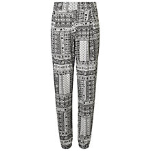 Buy Miss Selfridge Print Patchwork Joggers, Monochrome Online at johnlewis.com
