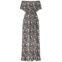 Buy Miss Selfridge Printed Bardot Maxi Dress, Multi Online at johnlewis.com