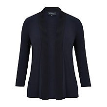 Buy Viyella Jersey Trim Cardigan, Navy Online at johnlewis.com