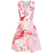 Buy Ted Baker Pirly A-Z Ditsy Floral Print Skater Dress, Pink Online at johnlewis.com