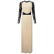 Buy Miss Selfridge Lace Sleeve Pleated Dress, Multi Online at johnlewis.com