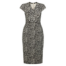 Buy Hobbs Milena Dress, Black/Taupe Online at johnlewis.com