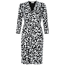 Buy Hobbs Brushstroke Dress, Black/Ivory Online at johnlewis.com