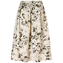 Buy Miss Selfridge Floral Midi Skirt, Neutral Online at johnlewis.com