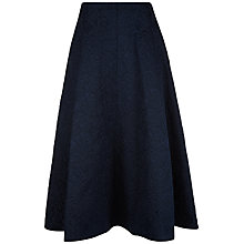 Buy Jaeger Floral Jacquard Skirt, Midnight Online at johnlewis.com