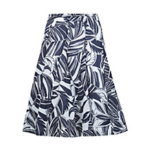 Buy Hobbs Santa Monica Skirt, Navy/Ivory Online at johnlewis.com
