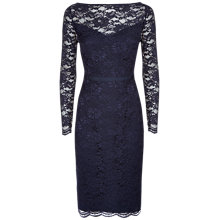 Buy Jaeger All Over Lace Dress, Navy Online at johnlewis.com