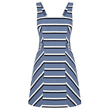 Buy Oasis Stripe Pinafore Dress, Multi Blue Online at johnlewis.com