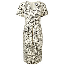 Buy Pure Collection Kingston Silk Wrap Dress, Mono Spot Print Online at johnlewis.com