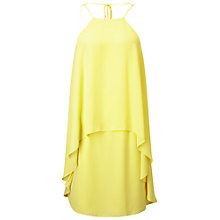 Buy Miss Selfridge Double Layer Dress, Yellow Online at johnlewis.com