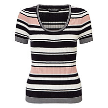Buy Miss Selfridge Stripe Knitted Top, Multi Online at johnlewis.com