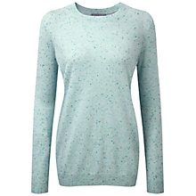 Buy Pure Collection Eva Cashmere Boyfriend Sweater, Opal Fleck Online at johnlewis.com