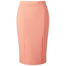 Buy Miss Selfridge Textured Pencil Skirt, Peach Online at johnlewis.com
