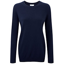 Buy Pure Collection Naomi Cashmere Boyfriend Sweater, Navy Online at johnlewis.com