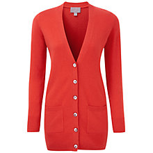 Buy Pure Collection Mila Cashmere Boyfriend Cardigan, Poppy Red Online at johnlewis.com