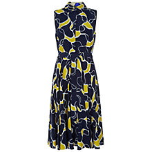 Buy Hobbs Belinda Dress, Yellow/Navy Online at johnlewis.com