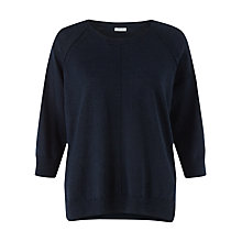 Buy Jigsaw Cotton Slub Three-Quarter Sleeve Jumper Online at johnlewis.com
