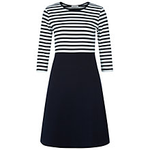 Buy Hobbs Savannah Striped Dress, Navy/Ivory Online at johnlewis.com