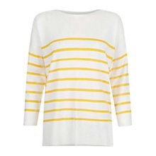 Buy Hobbs Rosalind Jumper, Ivory/Yellow Online at johnlewis.com