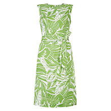 Buy Hobbs Santa Monica Dress, Sugarsnap Green/White Online at johnlewis.com