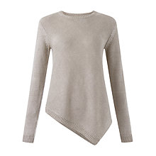 Buy Jigsaw Bias Linen Cut Jumper, Stone Online at johnlewis.com