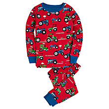 Buy Hatley Boys' Farm Tractor Pyjamas, Red Online at johnlewis.com