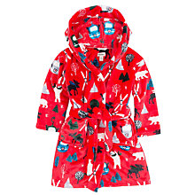 Buy Hatley Boys' Vintage Ski Slope Robe, Red Online at johnlewis.com