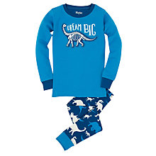 Buy Hatley Boys' Dinosaur Print Pyjamas, Blue Online at johnlewis.com