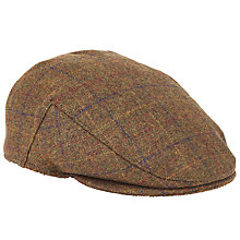 Buy John Lewis Large Check Flat Cap, Brown Online at johnlewis.com