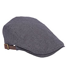 Buy John Lewis Seersucker Flat Cap, Grey Online at johnlewis.com