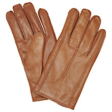 Buy John Lewis Made in Italy Cashmere Lined Leather Gloves, Tan Online at johnlewis.com