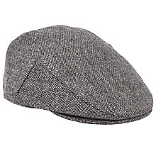 Buy John Lewis Pindot Flat Cap, Grey Online at johnlewis.com