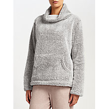 Buy John Lewis Snuggle Fleece Top, Grey Online at johnlewis.com