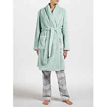 Buy John Lewis Shawl Collar Waffle Robe, Green Online at johnlewis.com