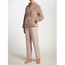 Buy John Lewis Zip Up Waffle Bed Jacket, Mocha Online at johnlewis.com