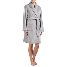 Buy John Lewis Shawl Collar Waffle Robe, Grey Online at johnlewis.com