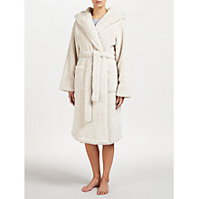 Buy John Lewis High Pile Fleece Hooded Robe, Oatmeal Online at johnlewis.com