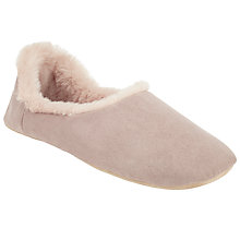 Buy John Lewis Faux Fur Lined Slippers, Pink Online at johnlewis.com