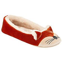 Buy John Lewis Jewelled Fox Ballet Slippers, Orange Online at johnlewis.com