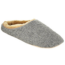 Buy John Lewis Woven Mule Slippers, Grey Online at johnlewis.com