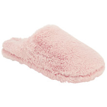 Buy John Lewis Faux Fur Mule Slippers, Pink Online at johnlewis.com