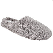 Buy John Lewis Sherpa Mule Slippers, Light Grey Online at johnlewis.com