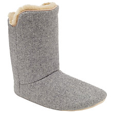 Buy John Lewis Boot Slippers, Grey Online at johnlewis.com