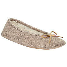 Buy John Lewis Knitted Ballet Slippers, Natural Online at johnlewis.com