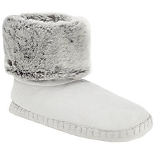 Buy John Lewis Faux Fur Turn Down Boot Slippers, Grey Online at johnlewis.com