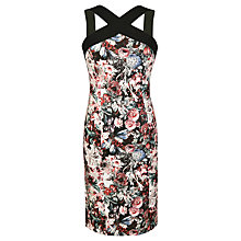 Buy Urban Touch Strapped Neck Floral Print Dress, Black Online at johnlewis.com